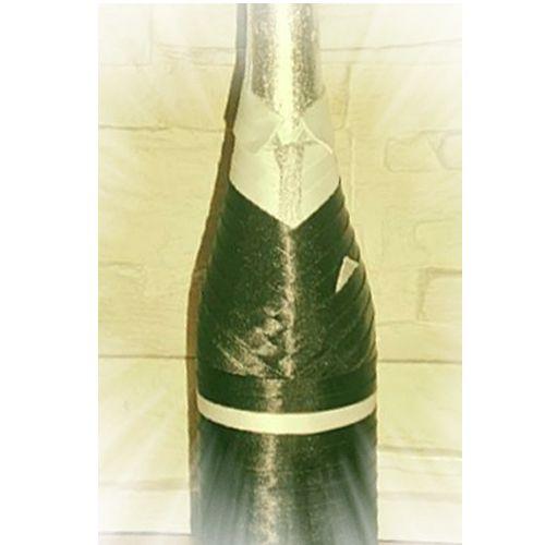 traje de novios para botellas de cava o champagne. botellas vestidas